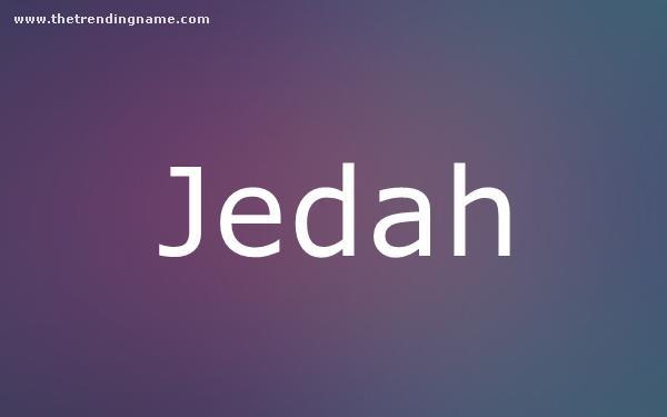 Baby Name Poster For Jedah