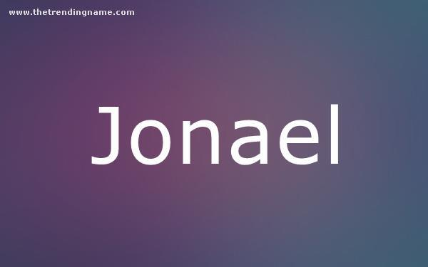 Baby Name Poster For Jonael