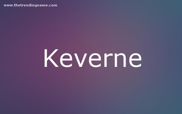 Baby Name Poster For Keverne