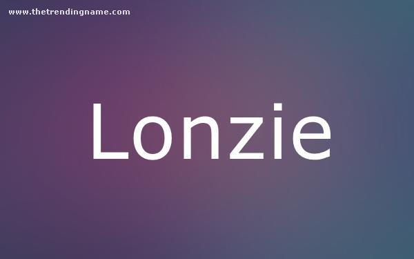 Baby Name Poster For Lonzie