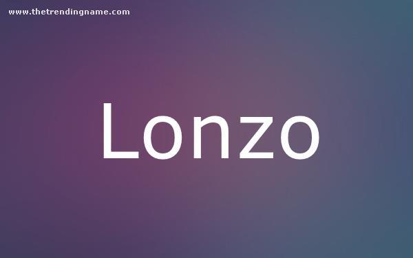 Baby Name Poster For Lonzo