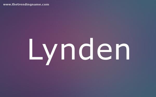 Baby Name Poster For Lynden