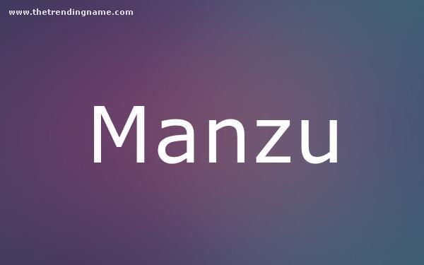 Baby Name Poster For Manzu
