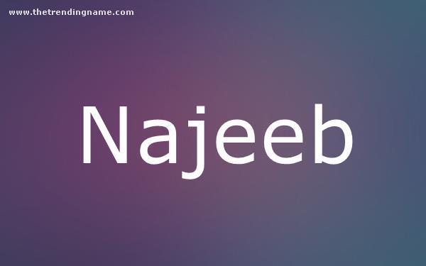 Baby Name Poster For Najeeb