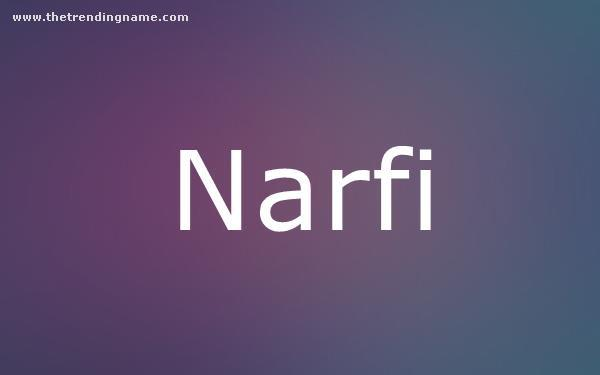 Baby Name Poster For Narfi