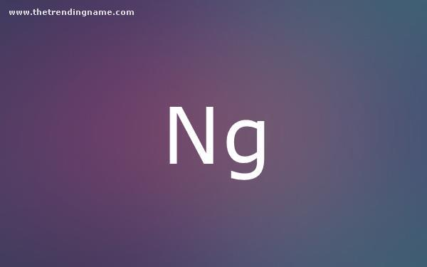Baby Name Poster For Ng