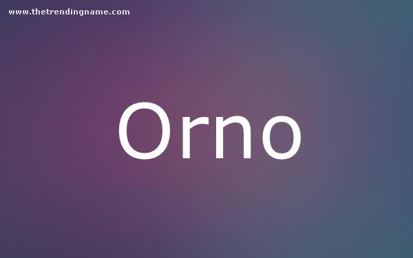Baby Name Poster For Orno