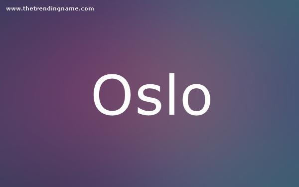 Baby Name Poster For Oslo