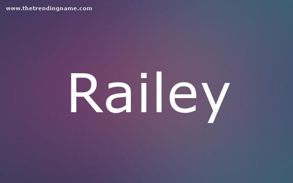 Baby Name Poster For Railey