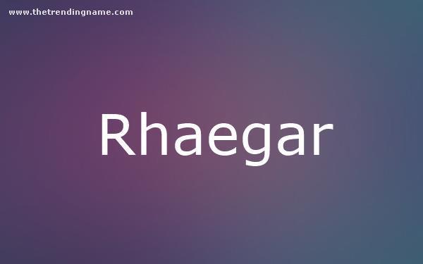 Baby Name Poster For Rhaegar