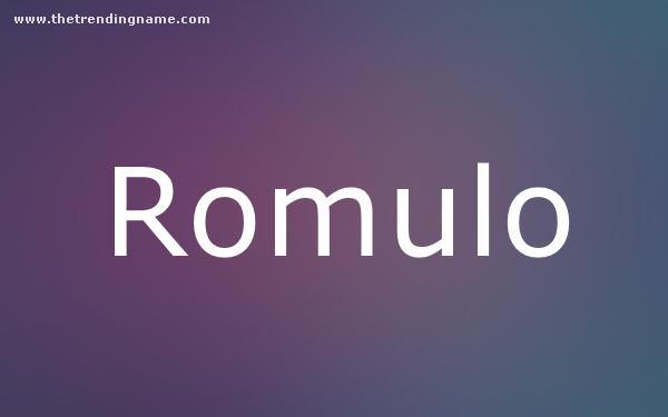 Baby Name Poster For Romulo