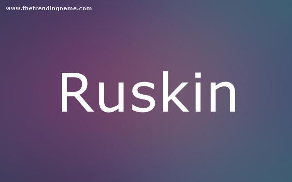 Baby Name Poster For Ruskin