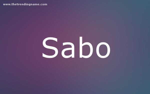 Baby Name Poster For Sabo