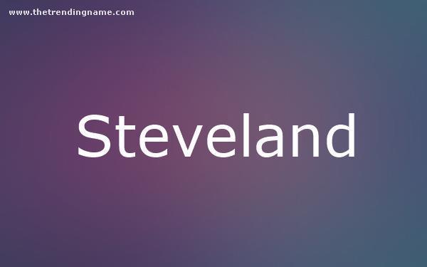 Baby Name Poster For Steveland