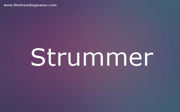 Baby Name Poster For Strummer