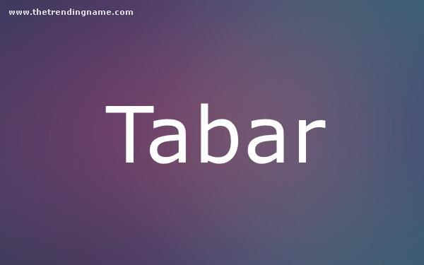 Baby Name Poster For Tabar