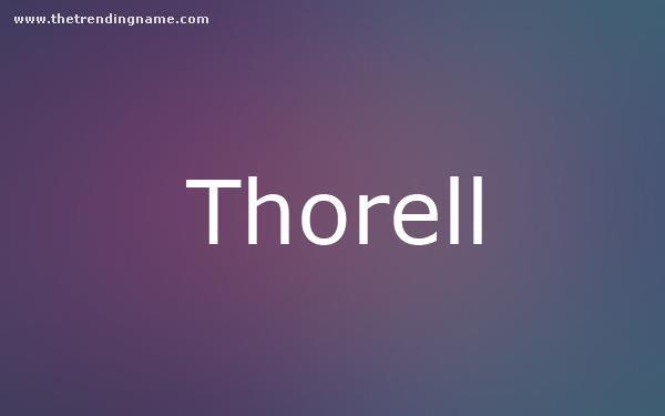 Baby Name Poster For Thorell
