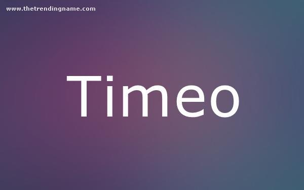 Baby Name Poster For Timeo