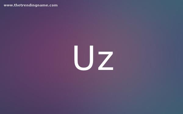 Baby Name Poster For Uz