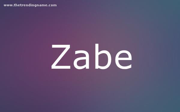 Baby Name Poster For Zabe