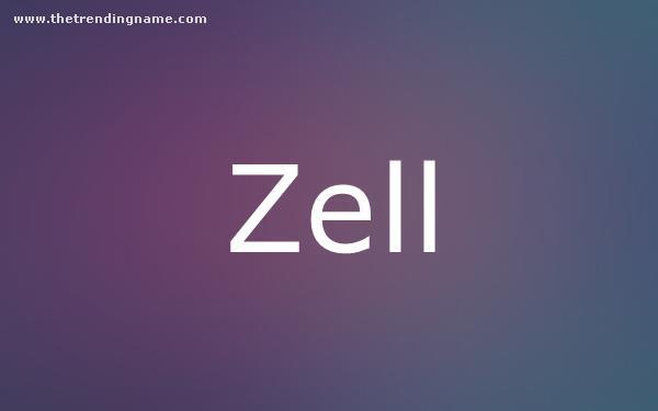 Baby Name Poster For Zell