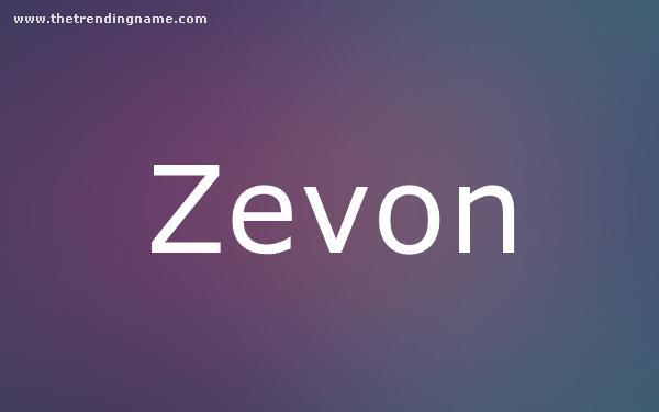 Baby Name Poster For Zevon