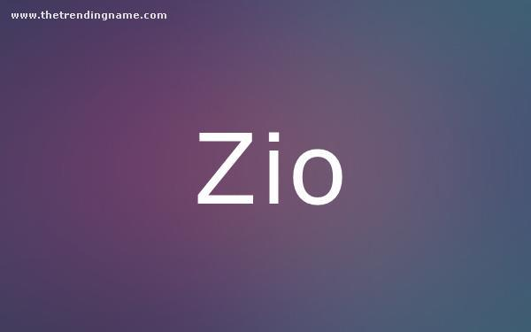 Baby Name Poster For Zio