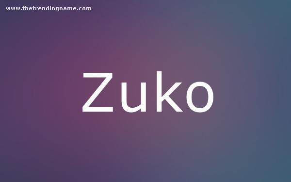 Baby Name Poster For Zuko