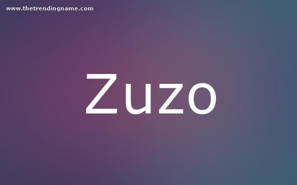 Baby Name Poster For Zuzo