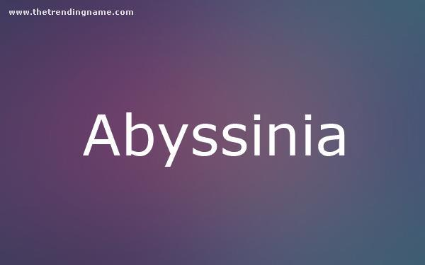 Baby Name Poster For Abyssinia