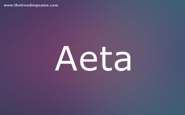 Baby Name Poster For Aeta