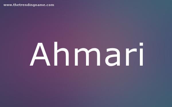 Baby Name Poster For Ahmari