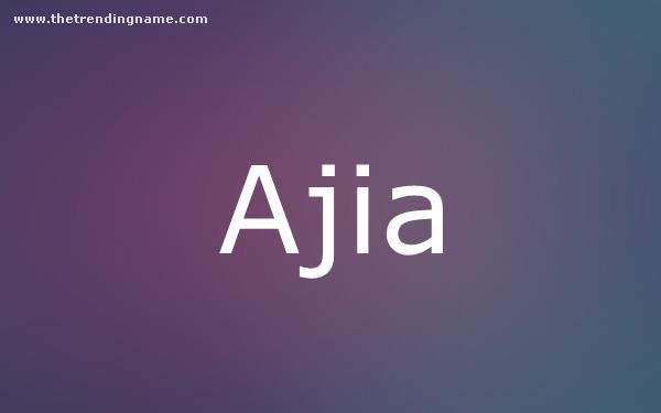 Baby Name Poster For Ajia