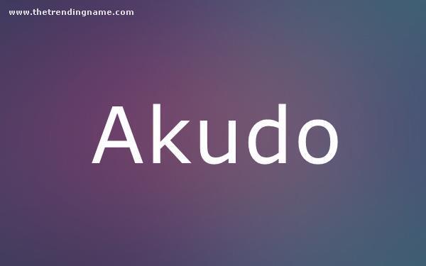 Baby Name Poster For Akudo