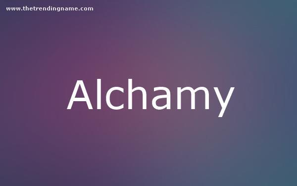 Baby Name Poster For Alchamy