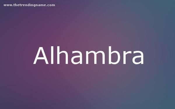 Baby Name Poster For Alhambra