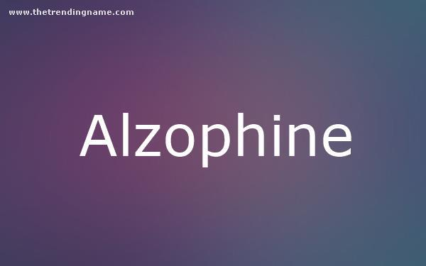 Baby Name Poster For Alzophine