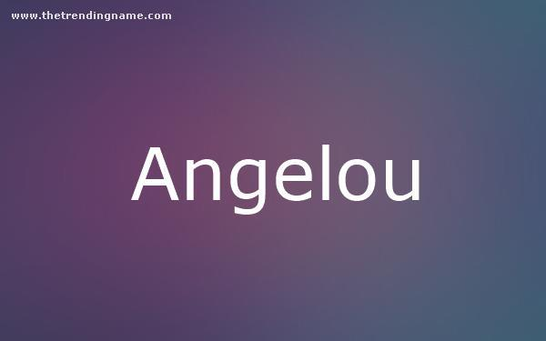 Baby Name Poster For Angelou