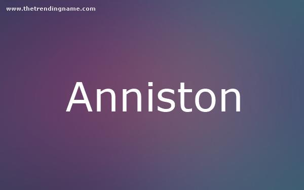 Baby Name Poster For Anniston