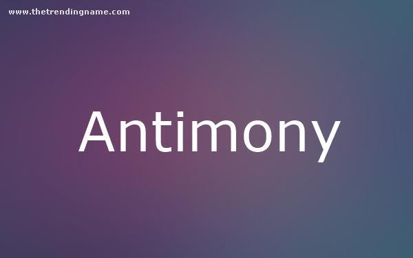 Baby Name Poster For Antimony