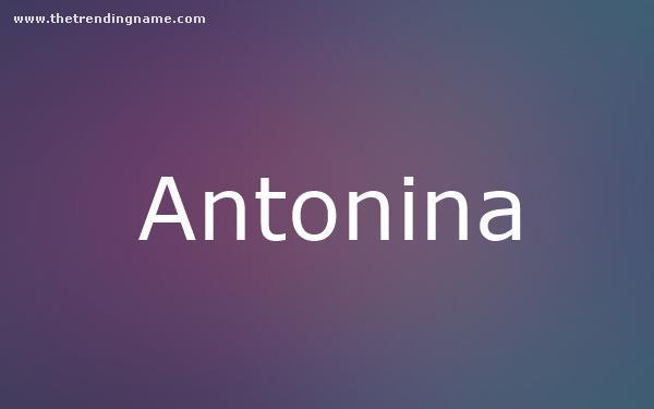 Baby Name Poster For Antonina