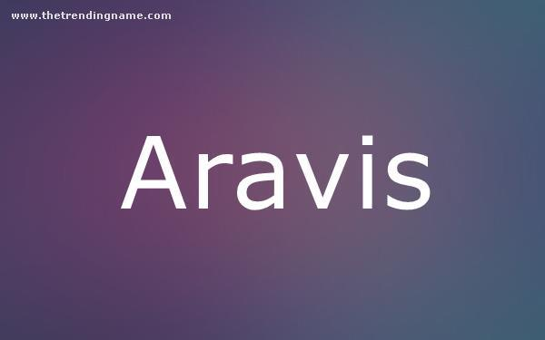 Baby Name Poster For Aravis