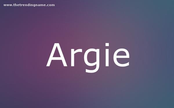 Baby Name Poster For Argie