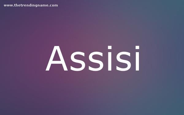 Baby Name Poster For Assisi