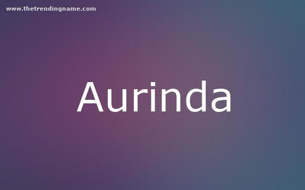 Baby Name Poster For Aurinda