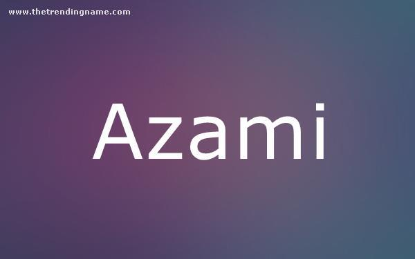 Baby Name Poster For Azami