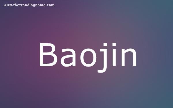 Baby Name Poster For Baojin