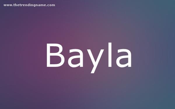 Baby Name Poster For Bayla