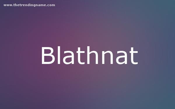 Baby Name Poster For Blathnat