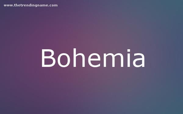 Baby Name Poster For Bohemia